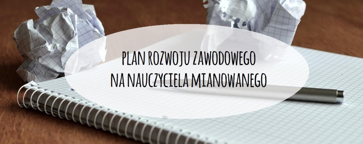 Plan rozwoju na nauczyciela mianowanego