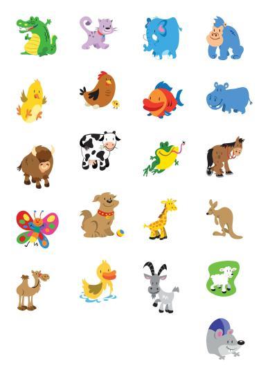 My shopping list animals