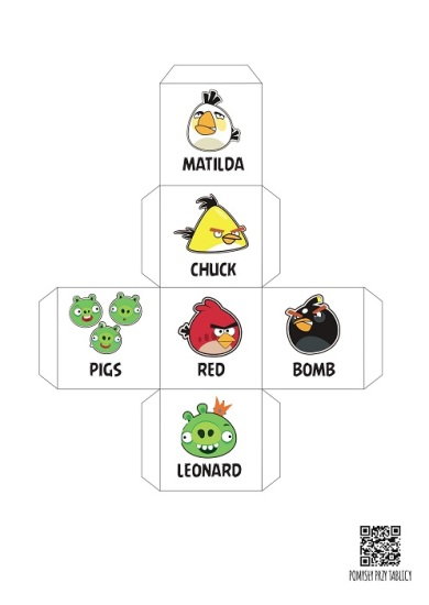 Get up and move dice Angry Birds