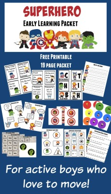 Superhero-19-page-active-preschool-packet