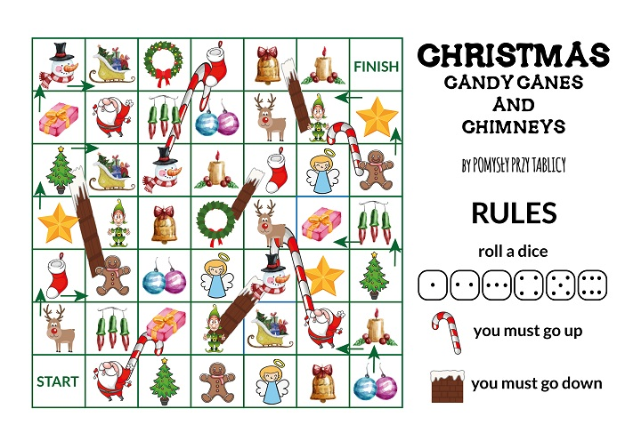 Christmas candy canes and chimneys board game-02