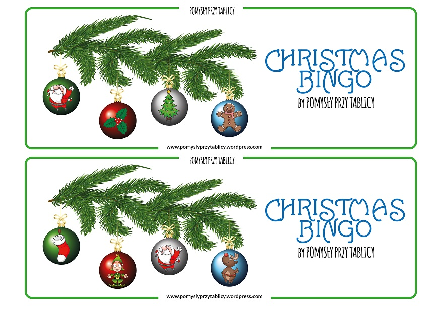 Christmas BINGO Christmas tree-02