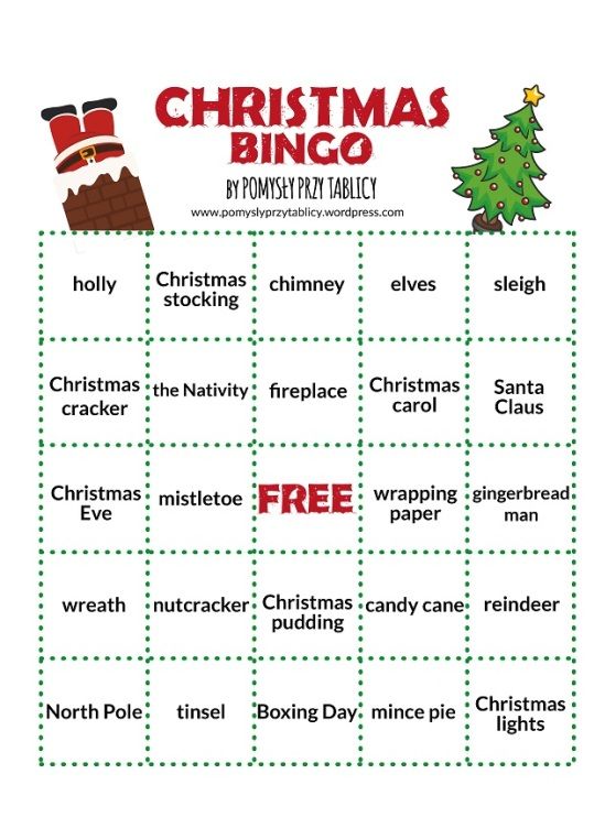 Christmas vocabulary BINGO!-04