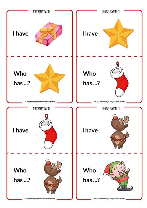 I have ... Who has ... Christmas II-03