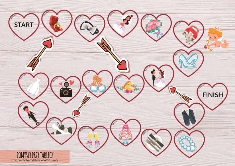 Wedding board game hearts2-04